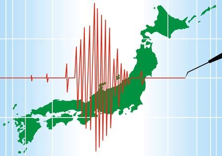 mooie achtergrond: seismische problemen in Japan zo mooi achtergrond Stock Illustratie