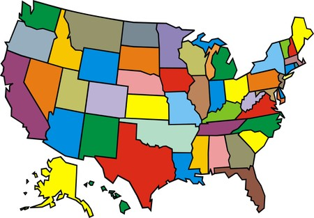 USA map isolated on the white background Vector