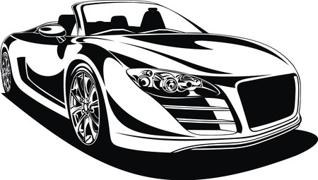 sport car isolated on the white background Illustration
