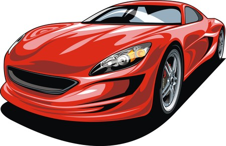 sport car isolated on the white background Vectores
