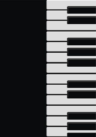 acoustically: black and white piano as very nice music background