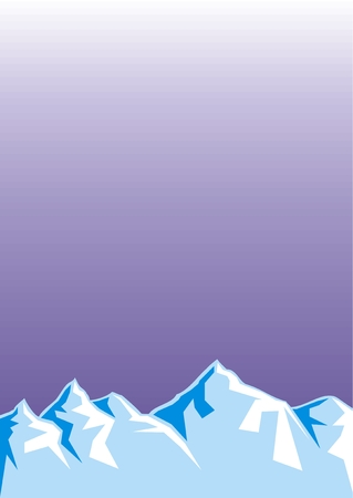 eminence: blue ice hills as very easy background Illustration