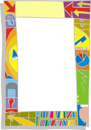 moder: color frame isolated on the white background Illustration