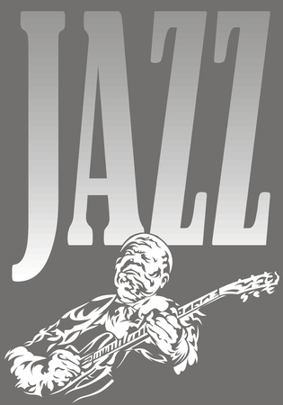 musically: jazz musician - black and white music background with people