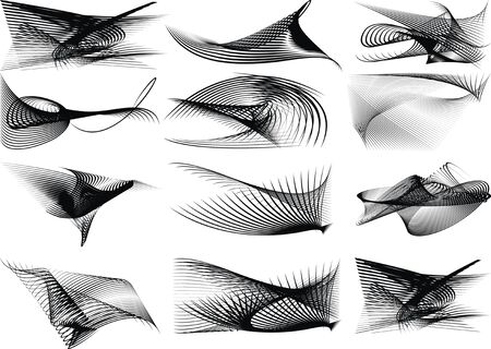 computergraphics: black and white easy abstract graphic background