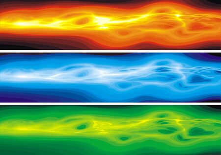 color waves  isolated on the black background