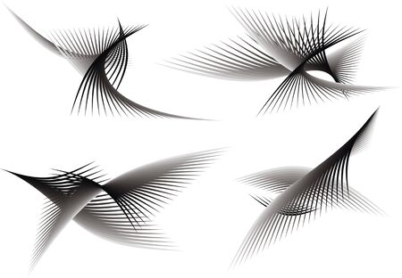 computergraphics: black and white abstract graphic background