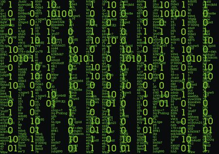 cryptogram: green text on the black sci-fi background