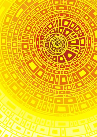 nice smile: yellow sun abstract illustration as modern background