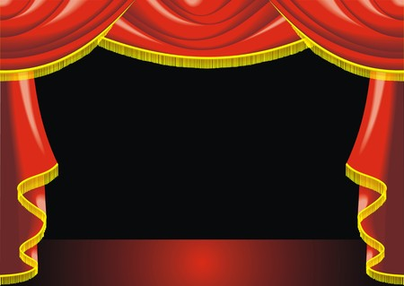show: theatre background in the red and gold