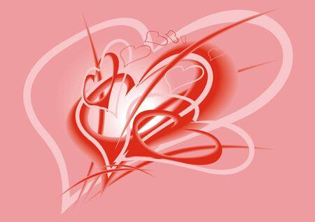 hape: cuori di San Valentino trama bello sfondo rosa Vettoriali