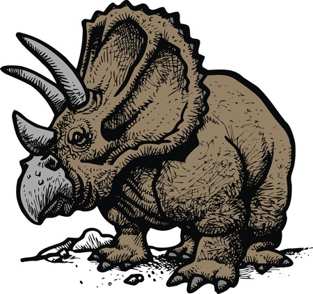 monstrous: styracosaurus as old dinosaurus as my idea