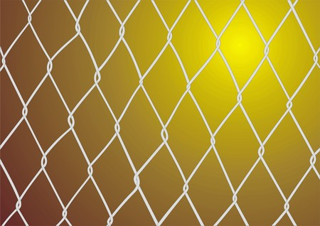 linkage: steel wired wall texture as danger background