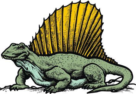 spinosaurus: spinosaurus dinousaur isolated on the white background