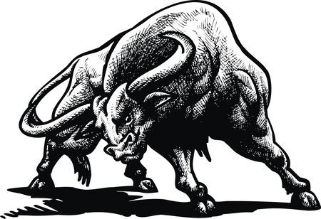 arena: wild bull in the arena (spain tradition)
