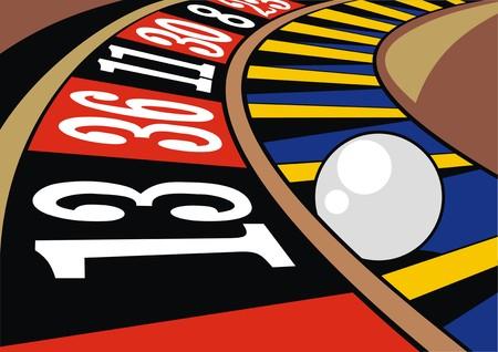 detail of color roulette as nice gamble background Reklamní fotografie - 38990922
