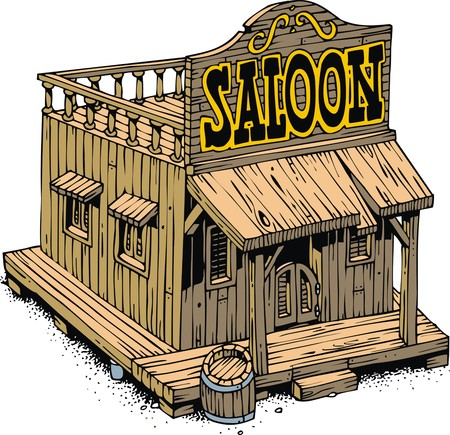 saloon: old saloon from the wild wide west