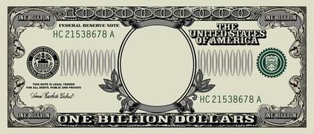 白い背景に分離された空ドル