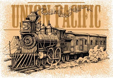 Oude stoommachine uit het wilde westen Stockfoto - 40409816