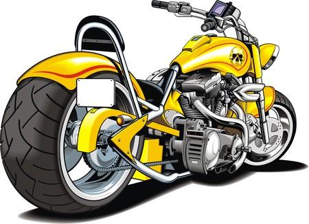 throttle: my original motrobike design isolated on the white background Illustration