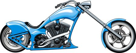 throttle: my original motorbike design isolated on the white background Illustration