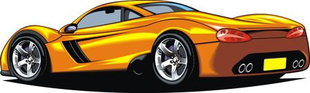 exotic car: my original sport car design isolated on the white background