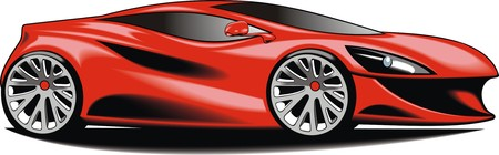 motorcar: my original car design isolated n the white background