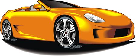 exotic car: my original car design isolated n the white background
