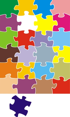 nice background: color puzzle illustration  as very  nice background