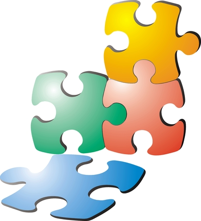 copulate: color puzzle illustration  as very  nice background