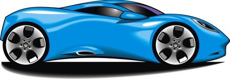 my original design car isolated on the white background Illustration