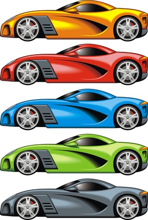 my original design car isolated on the white background Vectores