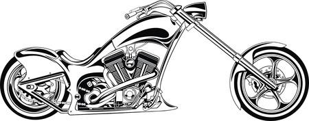 my original black and white motorbike design Illustration