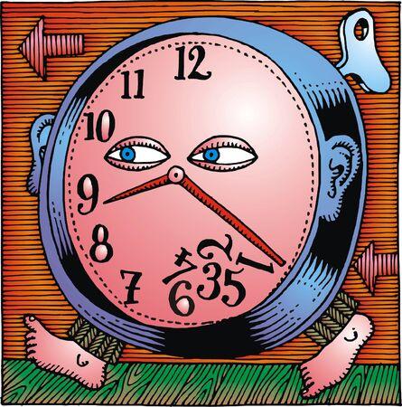 abstract alarm clock: abstract alarm clock as nice modern art Illustration