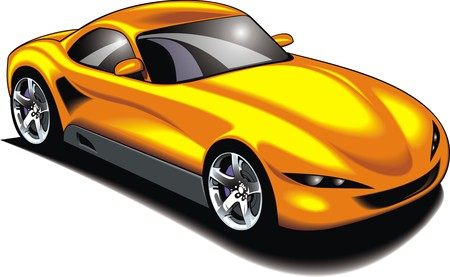 original design: my original design car isolated on the white background Illustration