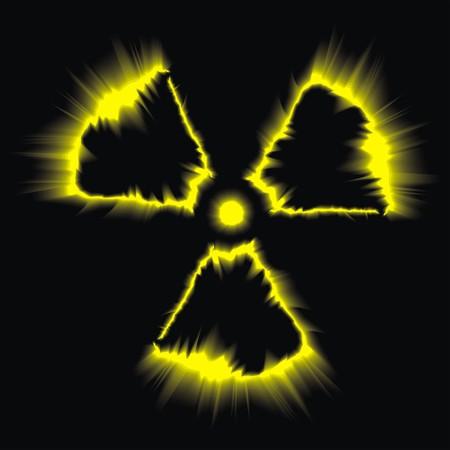 peligro símbolo radiactivo como muy bonita ilustración Ilustración de vector