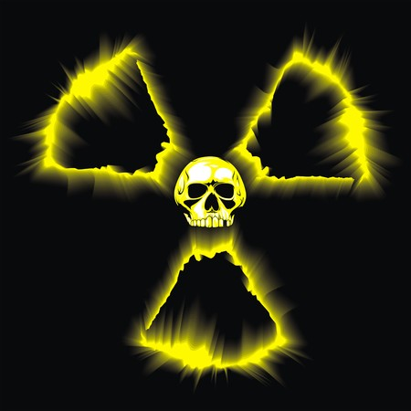 emanation: danger radioactive symbol as very nice illustration