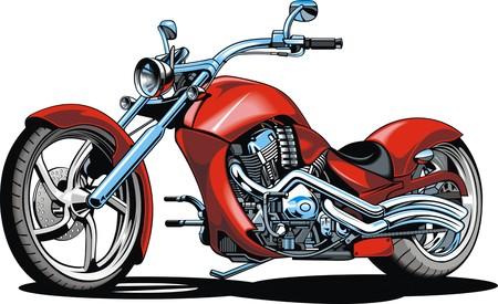throttle: my original design motorbike isolated on the white background Illustration