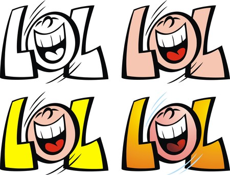 new lol smile isolated on the white background