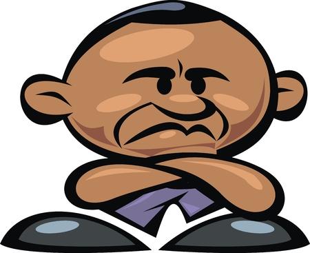 bad news: barack obama bad news isolated on the white background