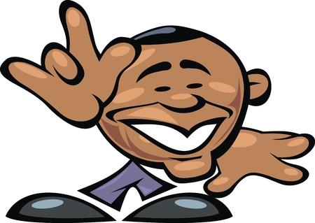 senate: Barack Obama smile isolated on the white background Illustration