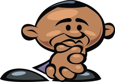statesman: barack obama pray isolated on the white background