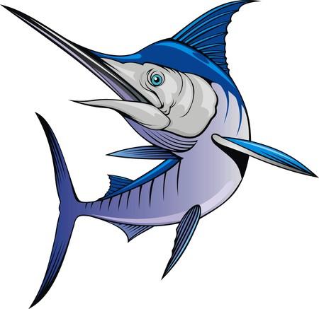 pescados de la aguja aislada en el fondo blanco Ilustración de vector