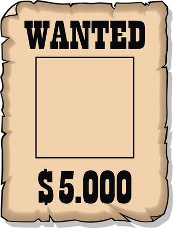 quiso el papel 5000 dolares vacío aislado en el fondo blanco Ilustración de vector