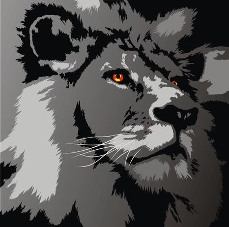 Kopf des Löwen als sehr schöne Tier Hintergrund Vektorgrafik