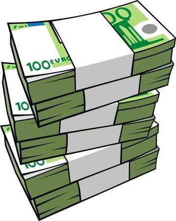 euro money isolated on the white background Illustration