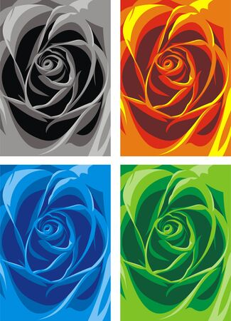 abstract rose: abstract color rose texture as nice love background