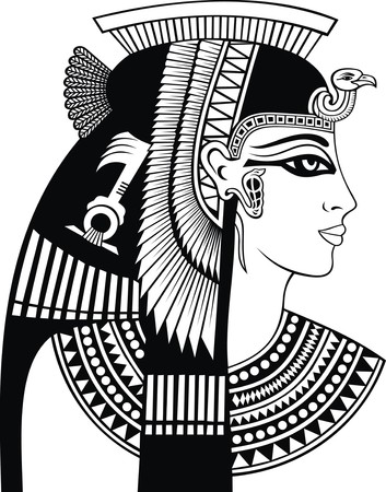 detail of cleopatra head isolated on the white background 版權商用圖片 - 53909711