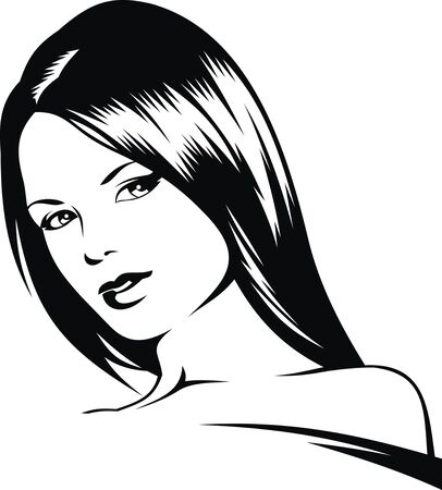 cabeza de mujer: bonita mujer cabeza de mi sueño como artista ilustración