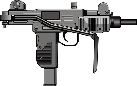 automatic: modern automatic gun isolated on the white background